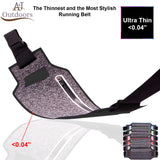 Ultra-Thin Water Resistant Running Belt - Black