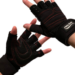 ANJ Sports (2019 Update) Weight Lifting/Workout Gloves with Integrated Wrist Support for Men and Women