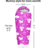 Adventure Theme 4 Seasons Indoor/Outdoor Kids Sleeping Bags