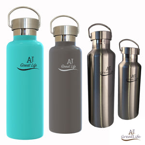 Premium Vacuum Insulated Stainless Steel Water Bottle (25OZ/17OZ)