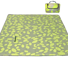 "80"" x 72"" 3-Layer XXLarge Waterproof Outdoor Blanket - Green Leaves"