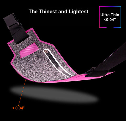 Ultra-Thin Water Resistant Running Belt for Women and Men