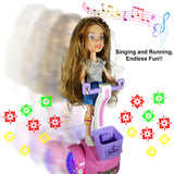 Battery Operated Fashion Girl Doll Riding Scooter