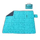 "60"" x 48"" 3-Layer Waterproof Outdoor Blanket/Picnic Blanket - Teal"