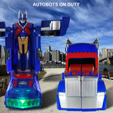 Battery Operated Bump and Go Transformers Toys for Kids - Optimus Prime