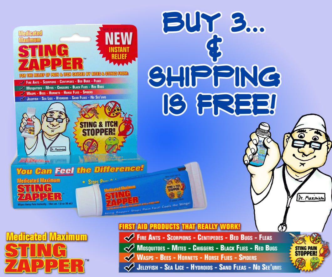Original Sting Zapper Gel Special Offer – Buy 3 and the Shipping is FREE!