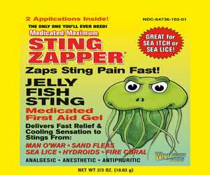 Jellyfish Sting Treatment - Instant Relief Gel Twin packet