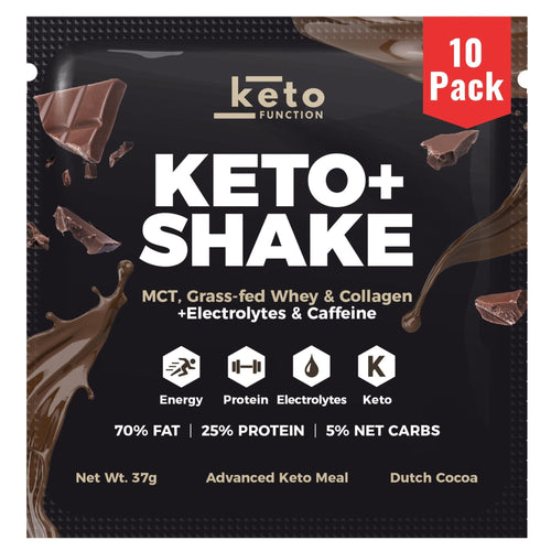 NEW! Keto+ Shake Low-Carb Keto Meal Replacement Packets - Dutch Cocoa