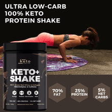 Load image into Gallery viewer, NEW! Keto+ Shake Low-Carb High Fat Keto Meal Replacement - Dutch Cocoa