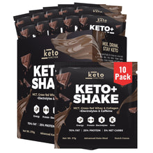 Load image into Gallery viewer, NEW! Keto+ Shake Low-Carb Keto Meal Replacement Packets - Dutch Cocoa