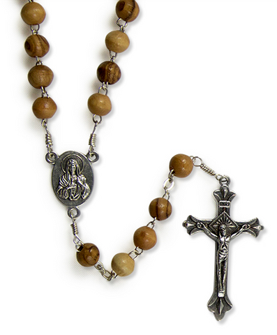 OLIVE WOOD ROSARY FROM BETHLEHEM