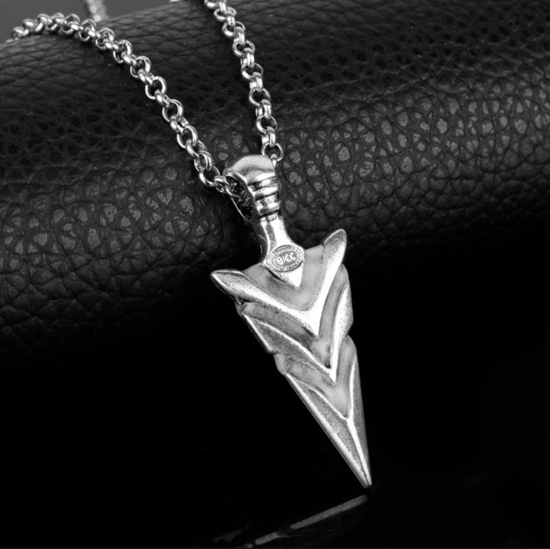 Glow in the Dark Native American Warrior Spirit Arrow Head Pendant Necklace, , Merkaba Chakras - Metaphysic Products, Services, & Accessories Store