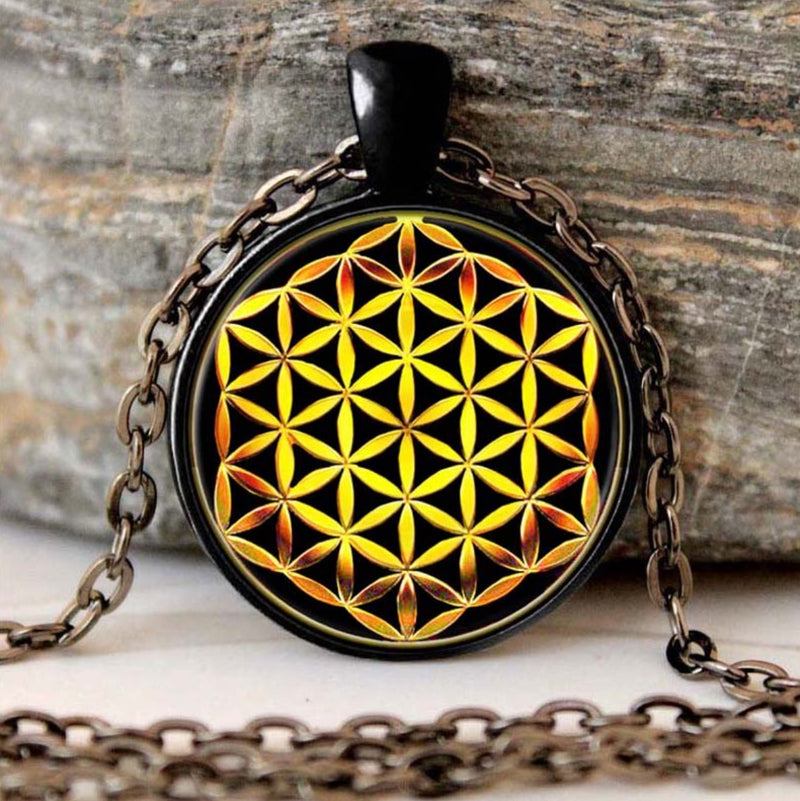 Celtic Fleur De Vie Flower of Life Pendant Necklace, , Merkaba Chakras - Metaphysic Products, Services, & Accessories Store