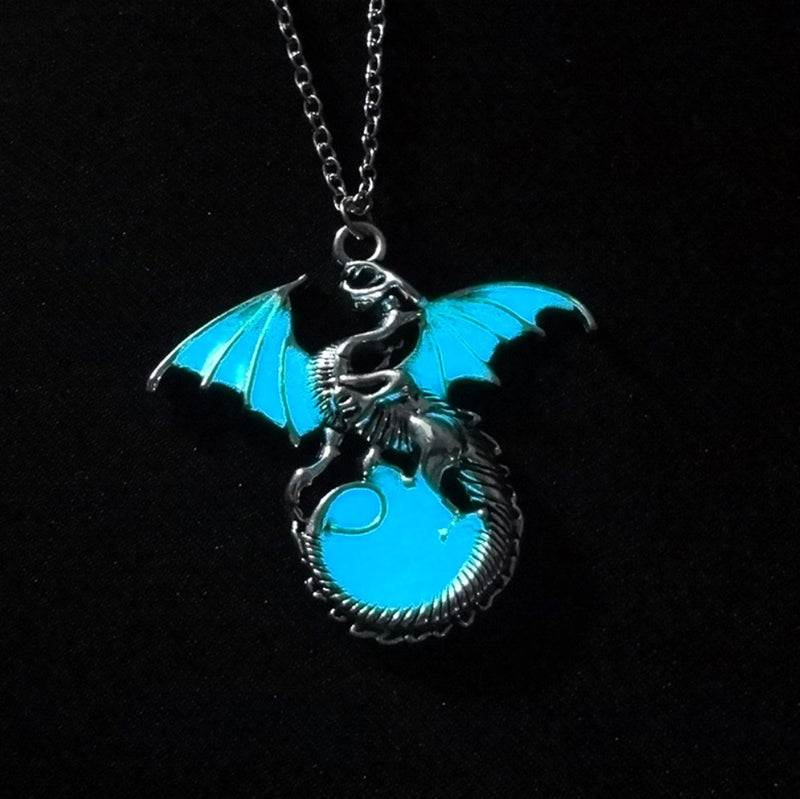 Glow in the Dark Mystic Dragon Pendant Necklace, , Merkaba Chakras - Metaphysic Products, Services, & Accessories Store