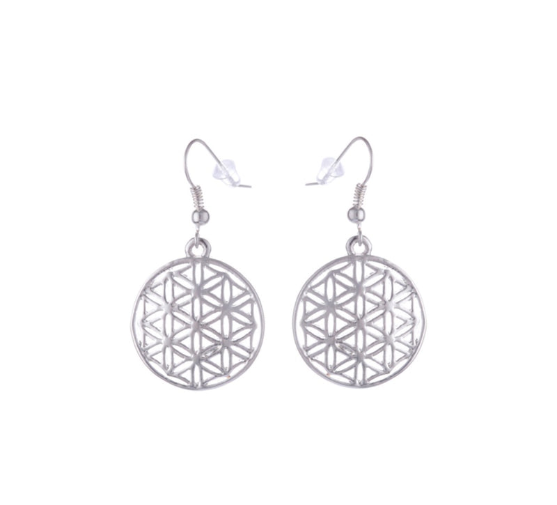 Flower of Life Costume Jewelry Pendant Necklace and Earrings Set, , Merkaba Chakras - Metaphysic Products, Services, & Accessories Store
