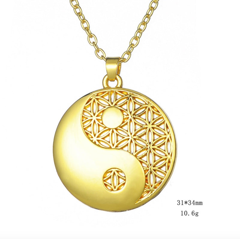 Flower of Life Ying-Yang Energy Balancing Necklace, , Merkaba Chakras - Metaphysic Products, Services, & Accessories Store