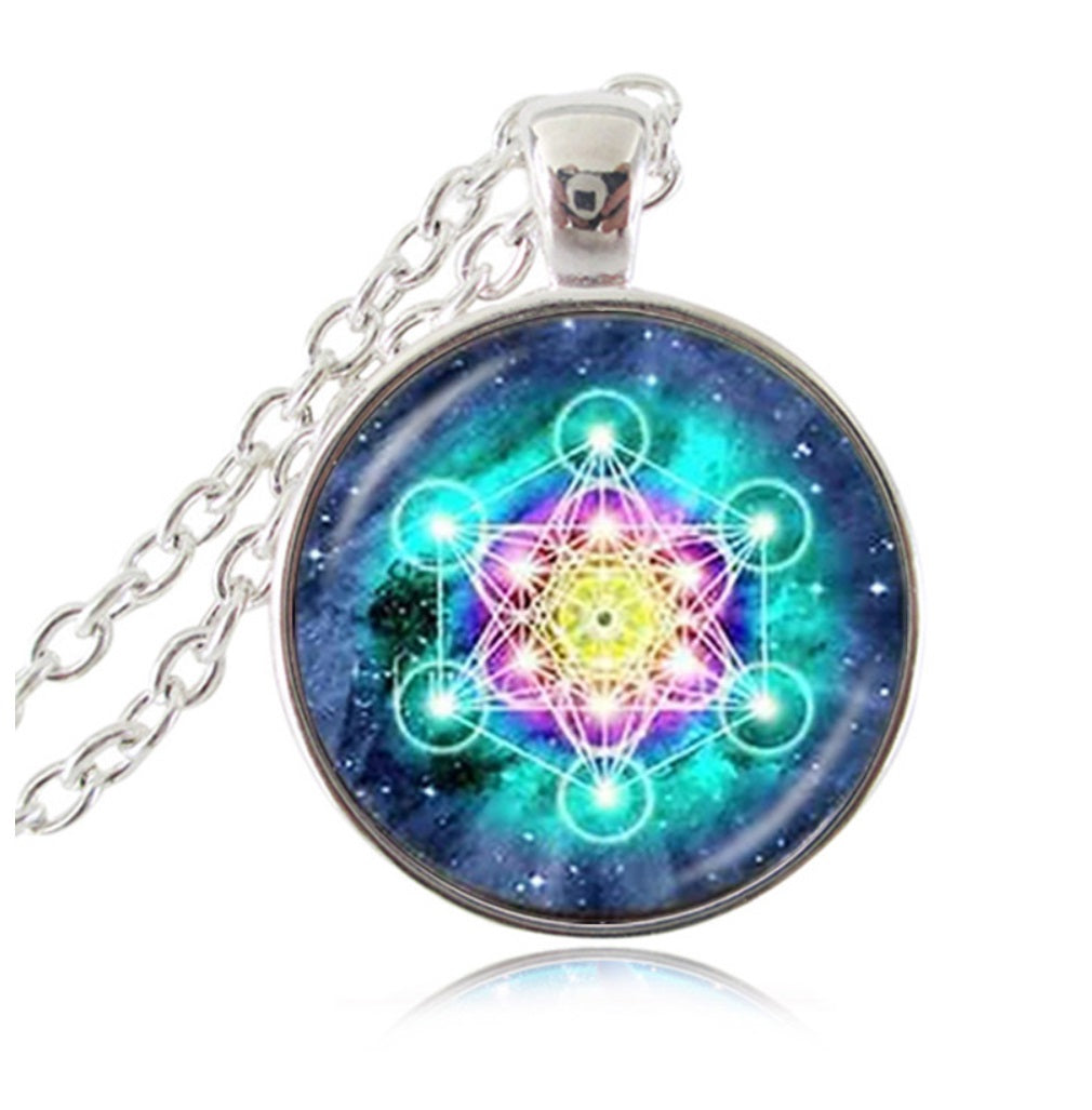 Archangel Metatron's Cube Flower of Life Unity Consciousness Pendant  Necklace