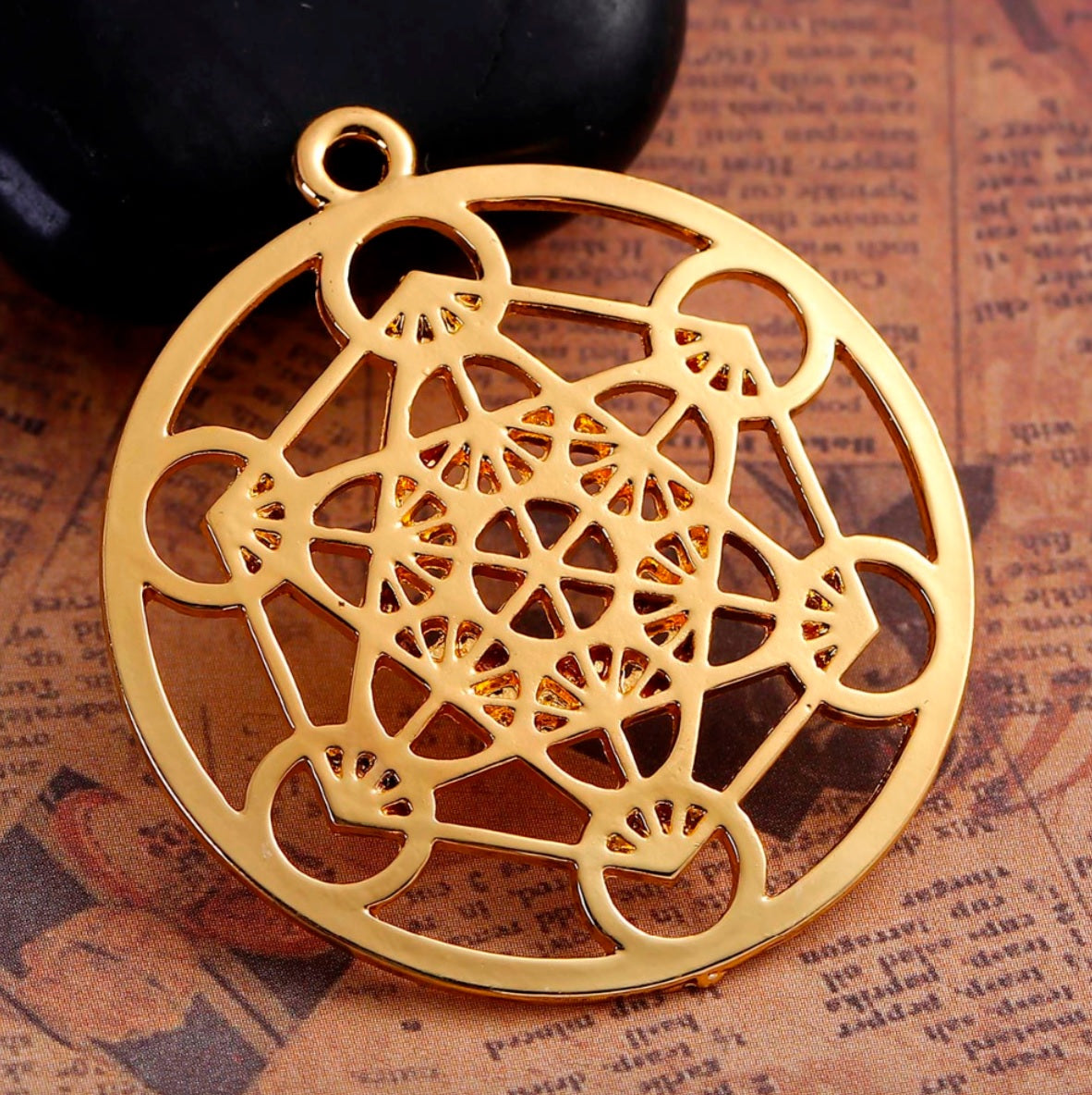Archangel metatrons cube sacred geometry 5d ascension merkaba gold archangel metatrons cube sacred geometry 5d ascension merkaba gold colored pendant aloadofball Image collections