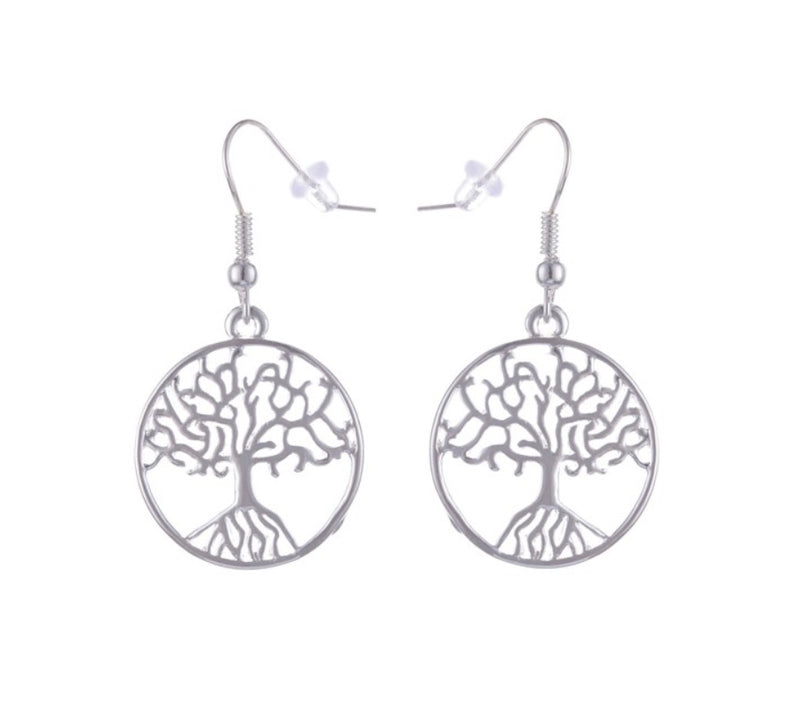 Tree of Life Costume Jewelry Pendant Necklace and Earrings Set, , Merkaba Chakras - Metaphysic Products, Services, & Accessories Store