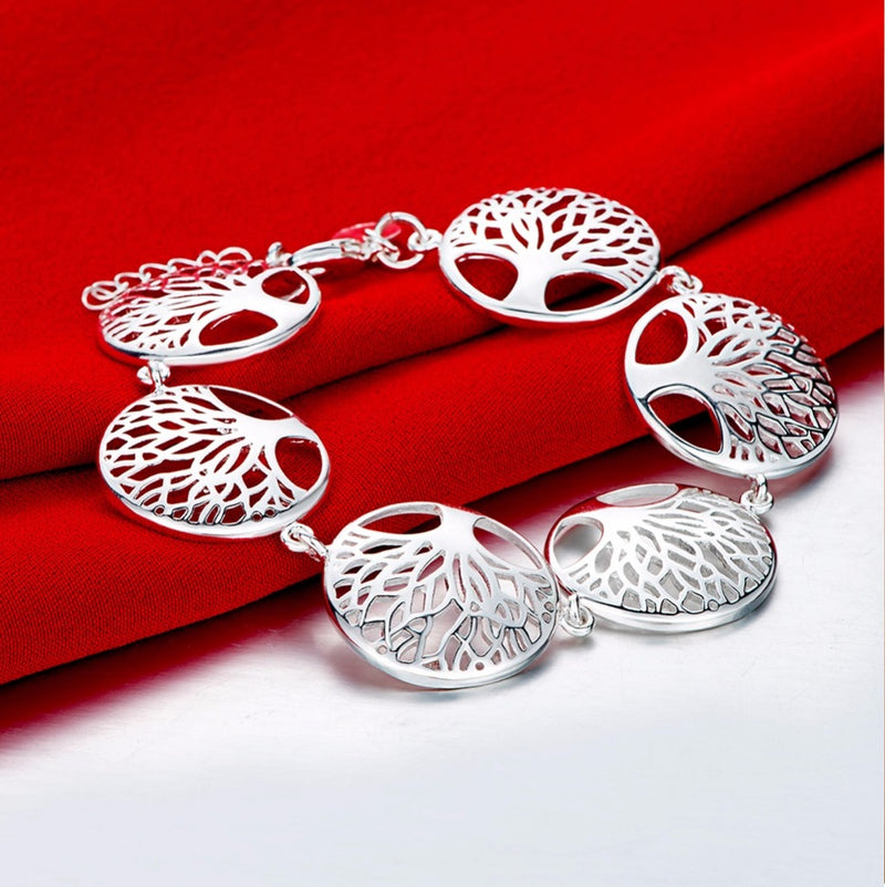 Tree of Life Classical Look Silver-Plated Bracelet, , Merkaba Chakras - Metaphysic Products, Services, & Accessories Store