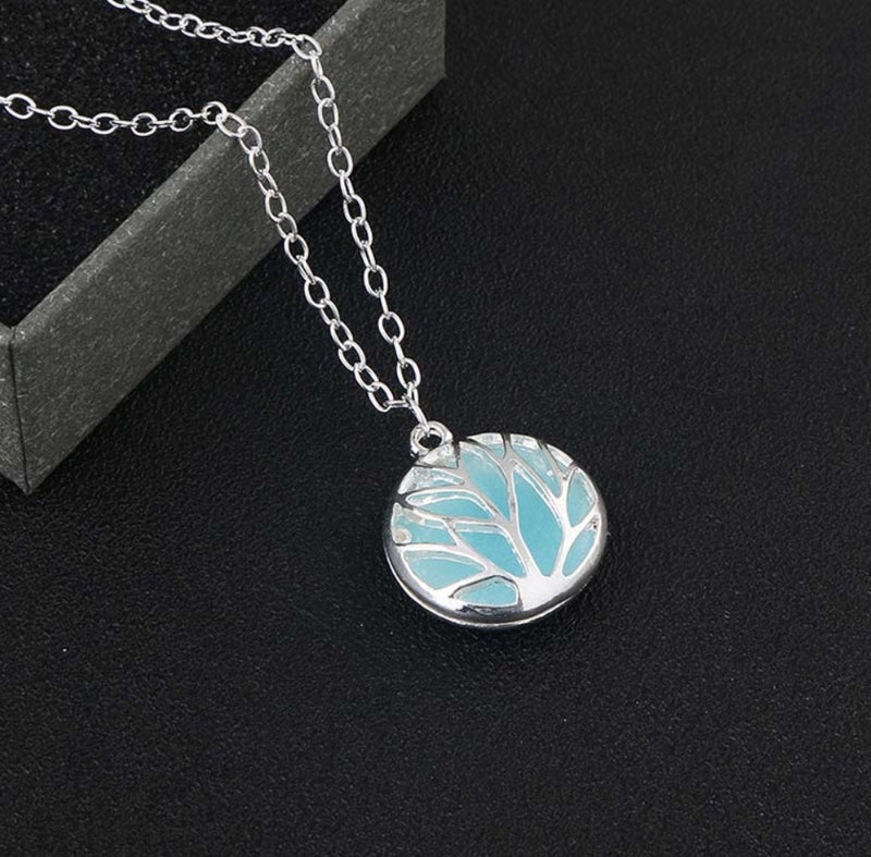 Glow in the Dark Tree of Life Branches Pendant Necklace with 48cm Silver Plated Chain, , Merkaba Chakras - Metaphysic Products, Services, & Accessories Store