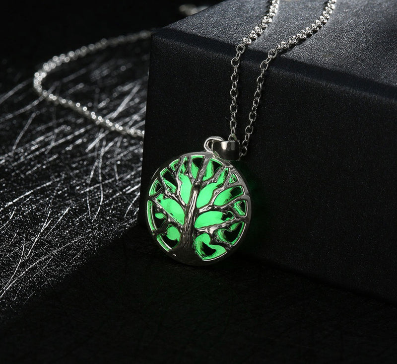 Tree of Life Rooted Origins Glow in the Dark Pendant Necklace, , Merkaba Chakras - Metaphysic Products, Services, & Accessories Store