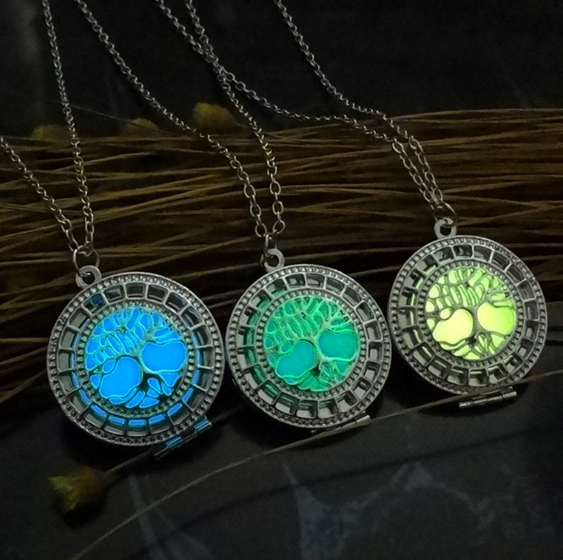 Tree of Life Glow in the Dark Luminous Pendant Necklace, , Merkaba Chakras - Metaphysic Products, Services, & Accessories Store