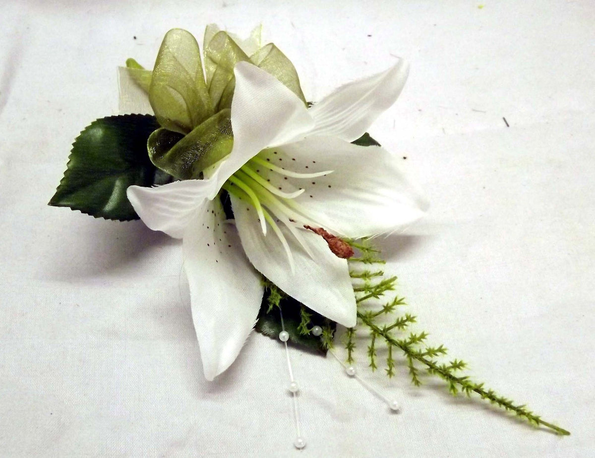 artificial silk wedding buttonhole