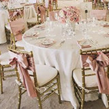 dusky pink wedding reception flowers