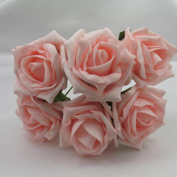 6cm light coral foam roses