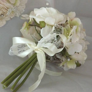 silk bridesmaids posy bouquet