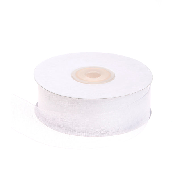 25mm white organza ribbon