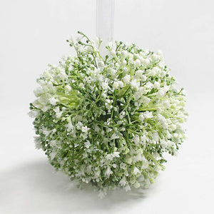 A bridesmaids pomander of premium quality white gypsophila