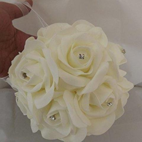 bridesmaids ivory foam rose pomander
