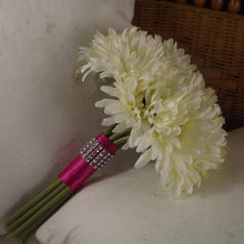 artificial wedding bouquet ivory gerbera flowers