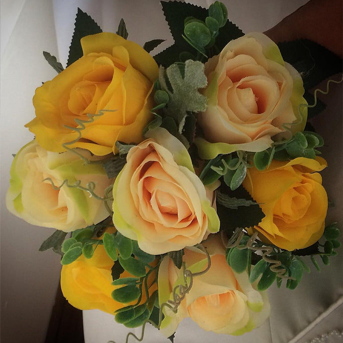 artificial wedding flower bouquet