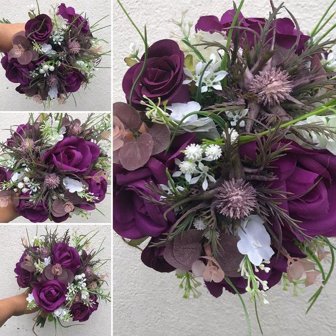 a collection of wedding bouquet using artificial flowers