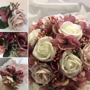 dusky pink wedding bouquet collection