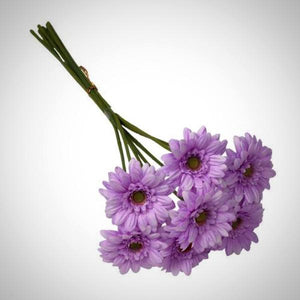 lilac silk gerbera flower bunch