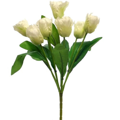 artificial ivory tulip bush