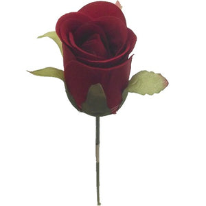 An artificial silk rose corsage (available in a range of colours)