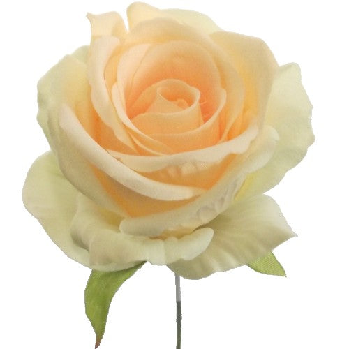 an artificial peach rose