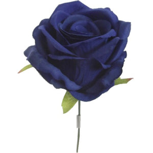 an artificial silk royal blue rose
