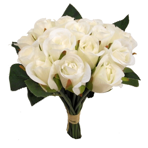 a bunch of 20 ivory faux roses