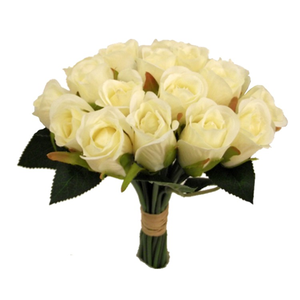 a bunch of 20 artificial roses flowers - lemon