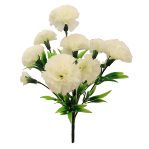 ivory artificial carnation bush