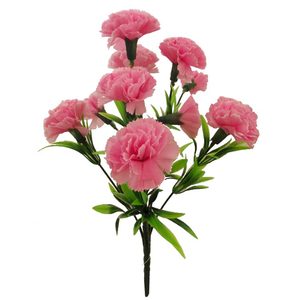 pink artificial carnation bush