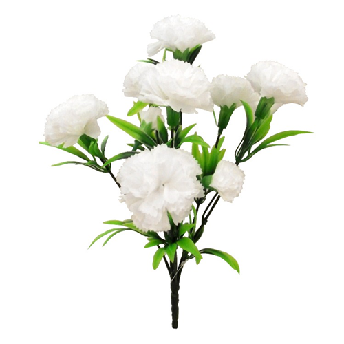 white artificial carnation spray bush