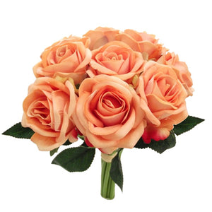 bunch of peach roses