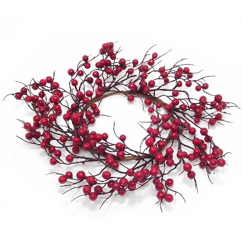 artificial red berry christmas wreath
